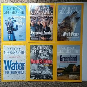 Jan-June 2010 National Geographic issues with map
